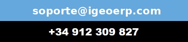 soporte@igeoerp.com 912 309 827