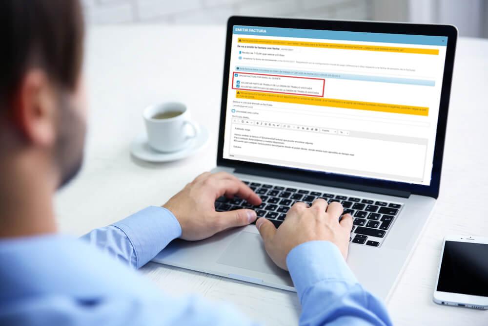 Enviar por mail la factura y el certificado al mismo tiempo
